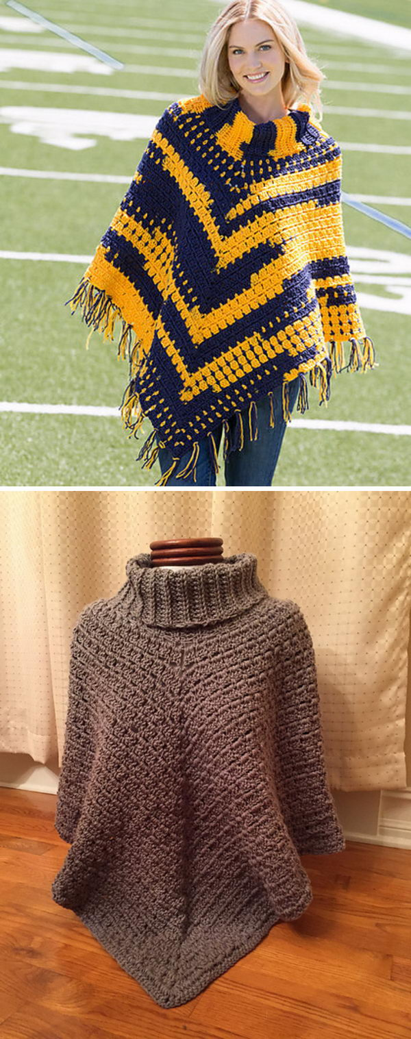 4 crochet women capes poncho ideas - 20 Crochet Women Capes and Poncho Ideas