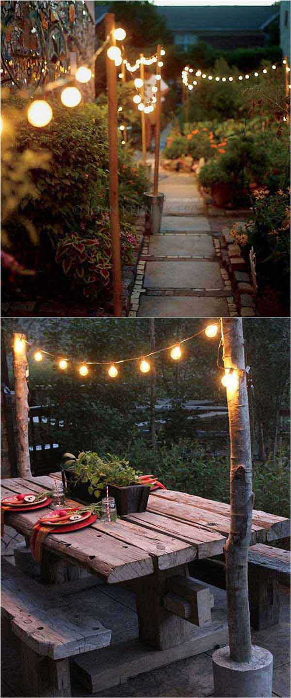 19 backyard lighting diy ideas - 20+ DIY Backyard Lighting Ideas