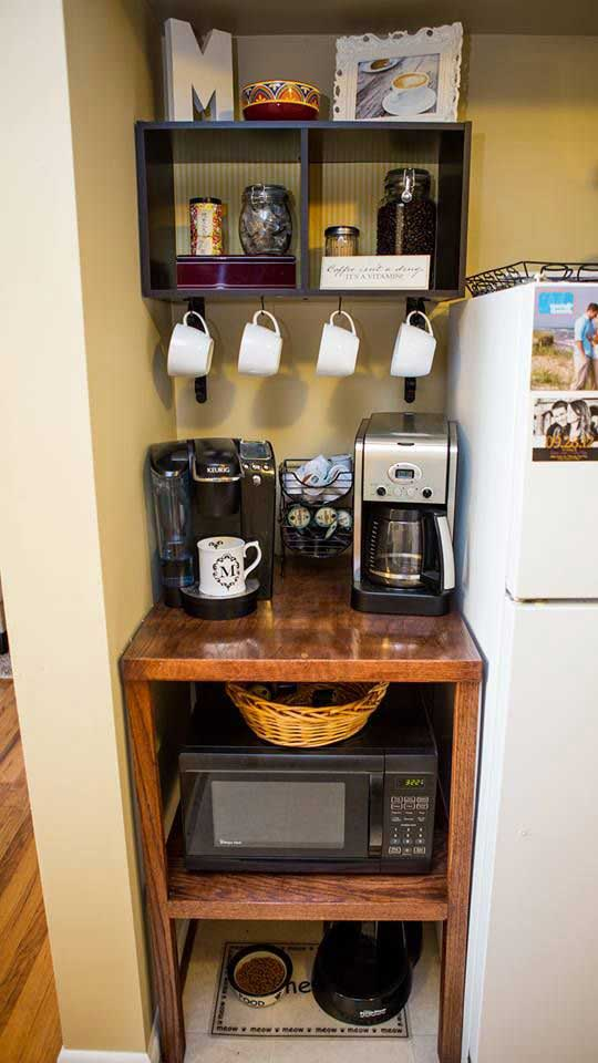 4 coffee station diy ideas tutorials - 15+ Cool DIY Coffee Station Ideas