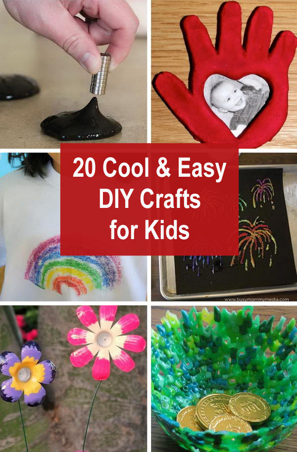 kids diy crafts - 20 Cool and Easy DIY Crafts for Kids