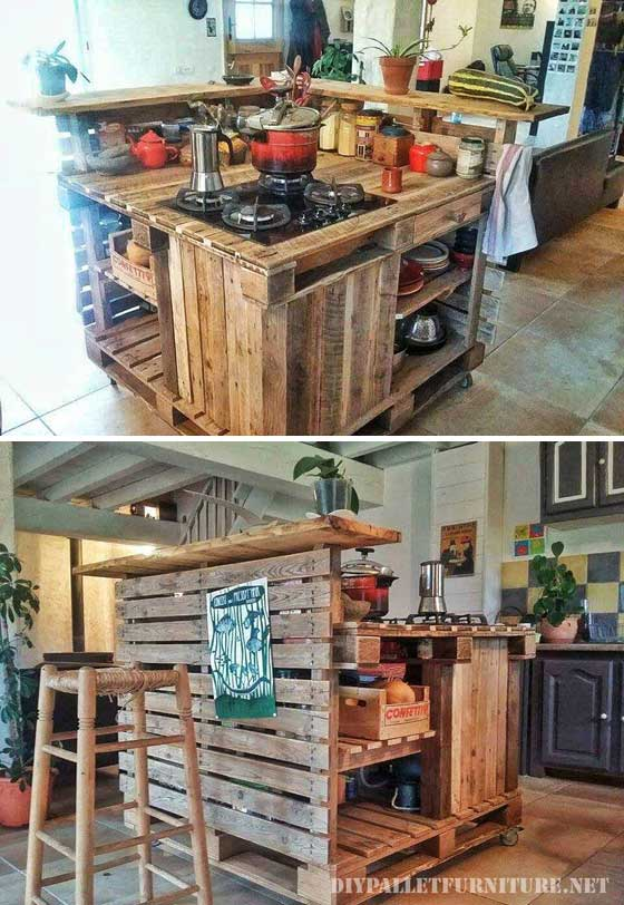 9 kitchen pallet diy ideas - 15+ Cool and Easy DIY Pallets Ideas for Your Kitchen