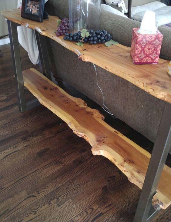 5 live edge wood decoration ideas - 20 Awesome Live Edge Wood Decoration Ideas