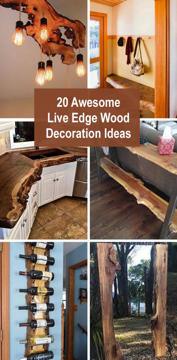 live edge wood decoration ideas - 20 Awesome Live Edge Wood Decoration Ideas