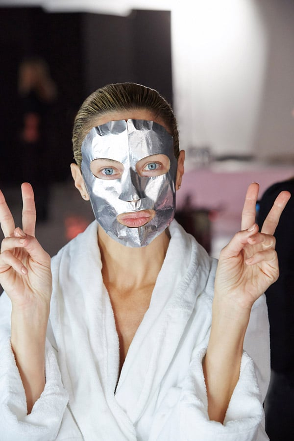 Style Tip: Foil Masks like this one by Estee Lauder increase ingredient absorption 25 times that of cotton masks.
