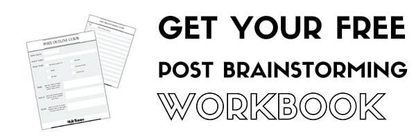 Blog Post Brainstorming Workbook