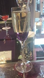 GLAMOROUS: Everyone needs to try the lavender champagne.