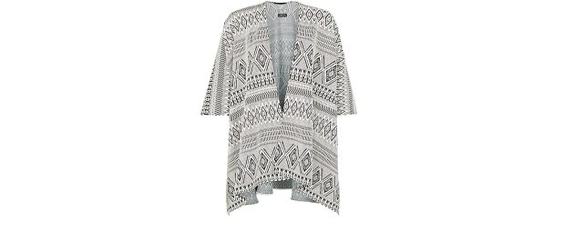 Aztec blanket wrap, £20, New Look