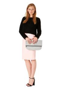 Jumper, £45, skirt, £35 Topshop