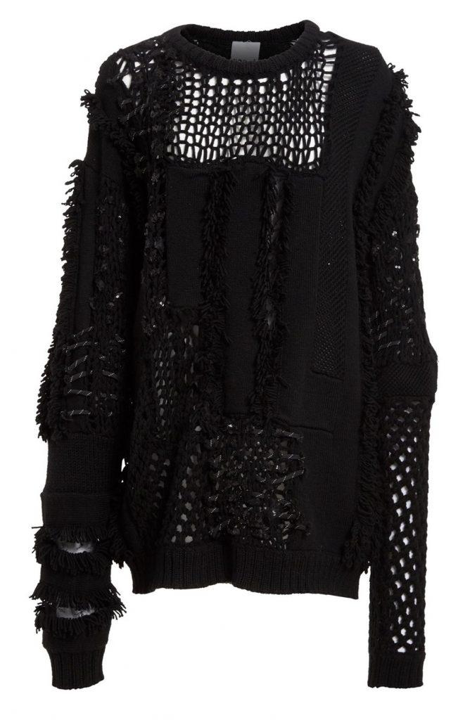 Koché Embellished Open Knit Sweater