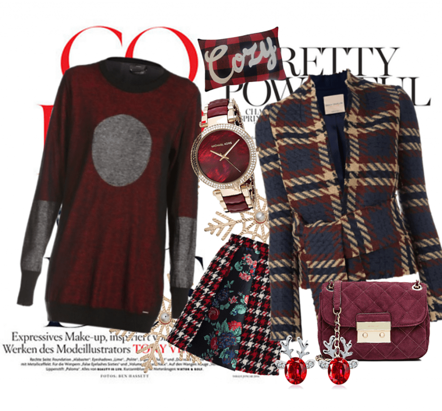 Winter essentials plaid red