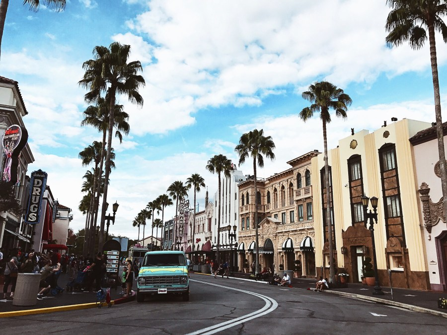 View from street in Universal Studios Orlando
