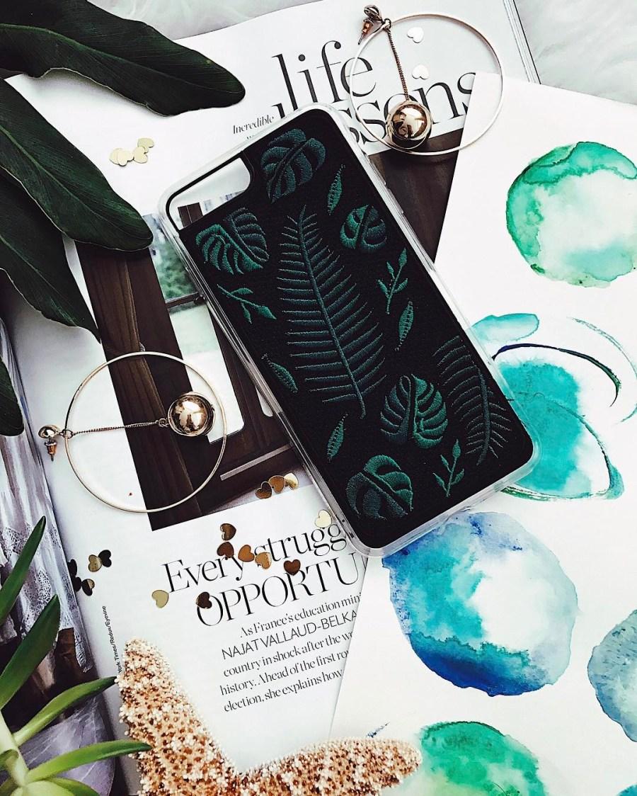 Zero Gravity embroidered iphone case