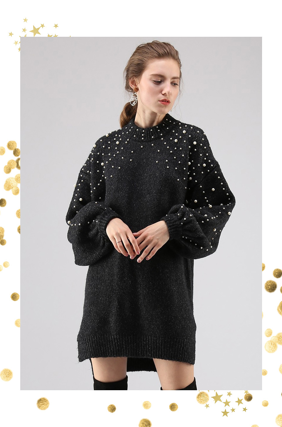 Chicwish pearl sweater dress Style Unsettled