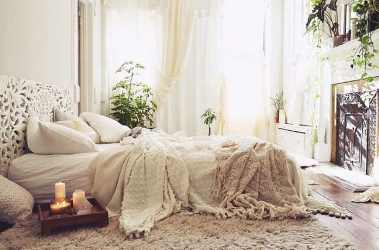 nighttime routine clean cozy bedroom