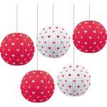 Valentines Day Paper Lanterns