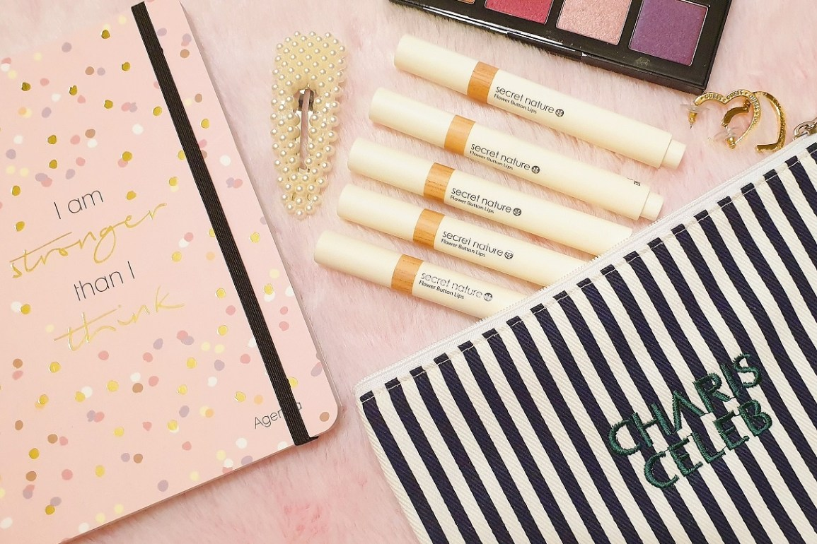 secret nature flower button lips review | style vanity