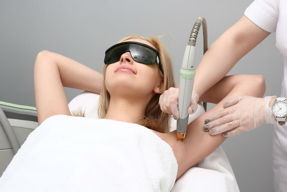 armpit laser skincare procedure