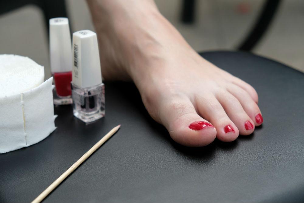 Foot Skincare Matters Much as Moisturizing - pedicure nail polish