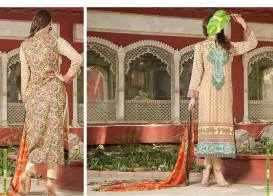 Semi Sitched Eid Lawn Dresses For Girls By Salitex 2015 4
