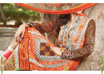Semi Sitched Eid Lawn Dresses For Girls By Salitex 2015 5