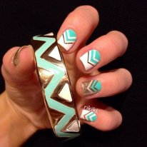 Beautiful Aztec Nail Art Designs For Young Girls 2