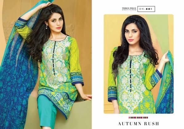 Three Piece Eid Dresses By Bonanza 2015-16