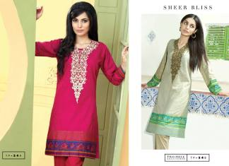 Two Piece Embroidered Eid Wear By Bonanza 2015-16