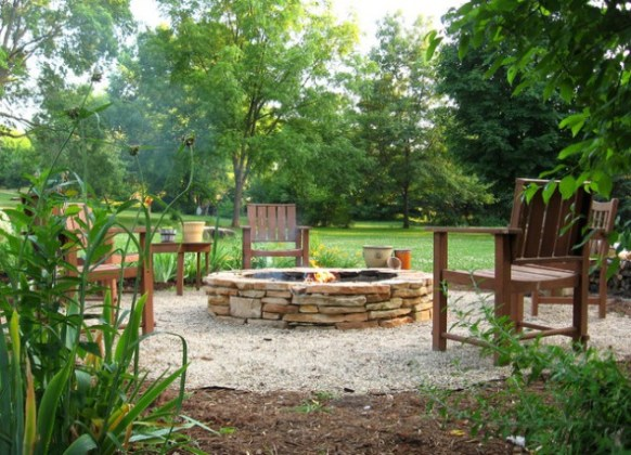 outdoor fire place ideas