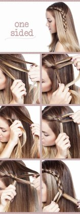 braided hair styling