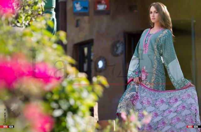 Cotton Shalwar Kameez By Sana Samia 2015-16