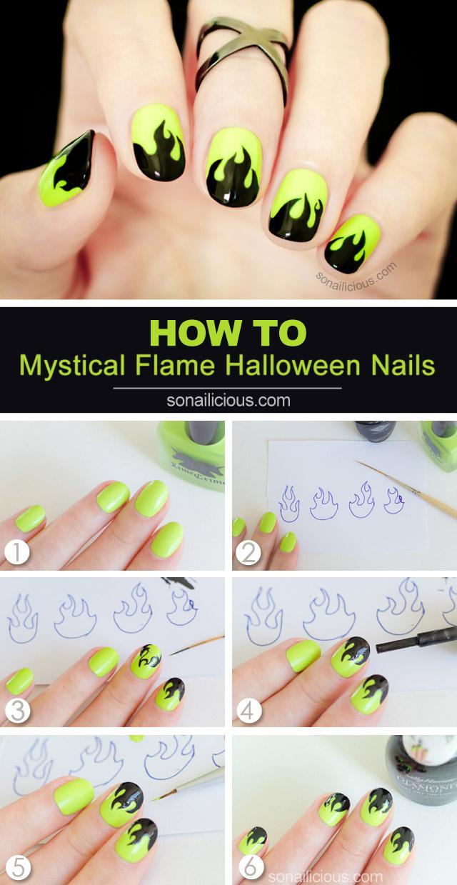 halloween nail tutorials