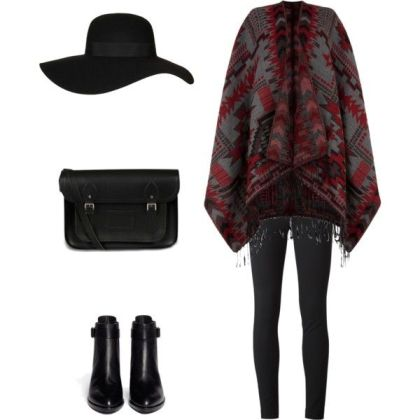 winter polyvore combos