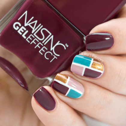 burgundy color on nails