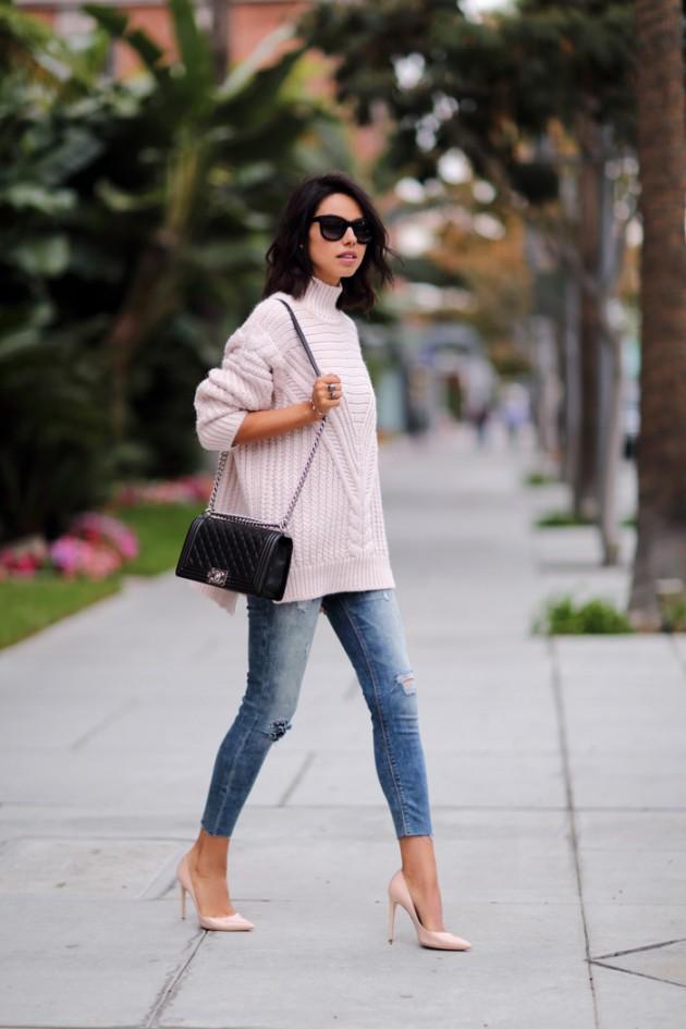 Pastel winter clothing