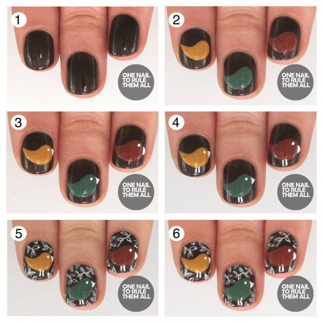 Step By Step Winter Nail Tutorials To Copy This Season 14