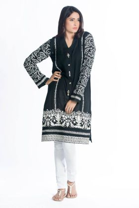 Winter Pret Kurti Designs Firdous Fashion Collection 2016