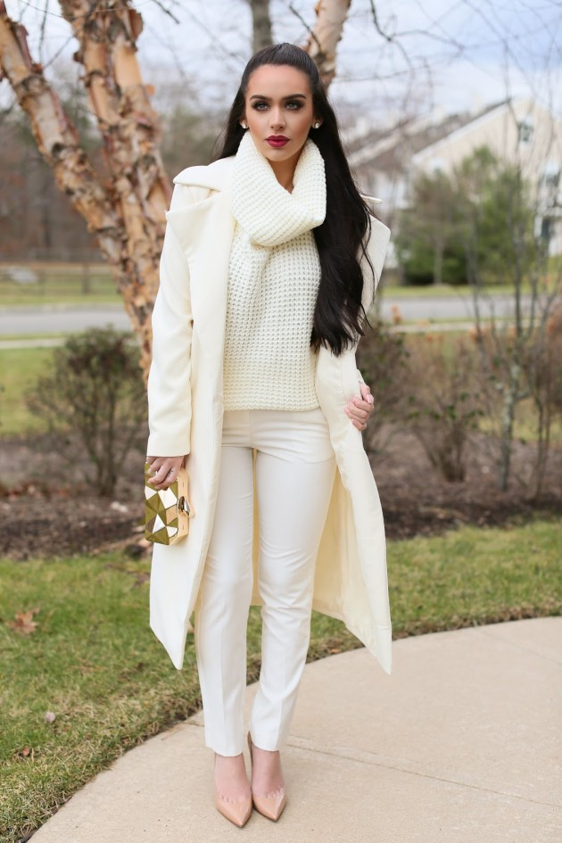 87ec76610934 All White Outfits To Try This Winter-Spring Season