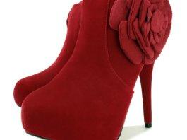 Formal High Heel Footwear With Flower Designs