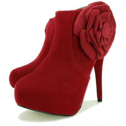 Formal High Heel Footwear With Flower Designs