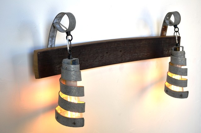 Industrial Bathroom Lighting With Complete Designs