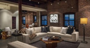 Living Room Interior Industrial Home Designs 2016