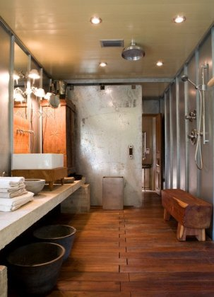 Industrial bathroom home designs