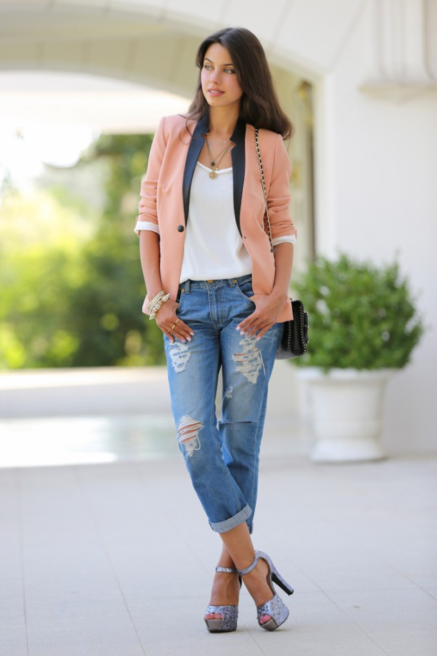 boyfriend jeans outfits for the spring summer season. Black Bedroom Furniture Sets. Home Design Ideas