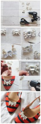 DIY shoe clip ideas