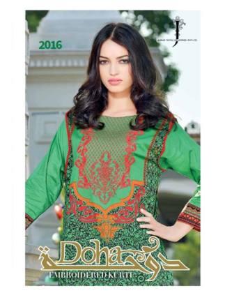 Doha Embroidered Summer Kurti Collection 2016