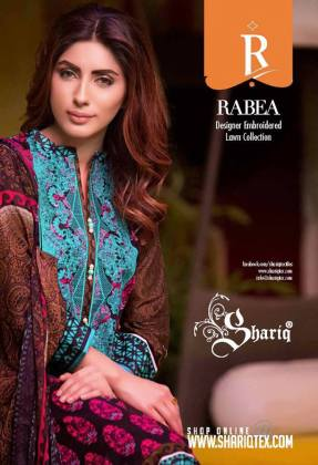 Rabea Designer Embroidered Lawn Collection 2016