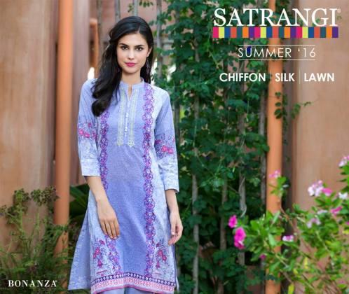 Satrangi Chiffon Silk Lawn Summer Collection 2016