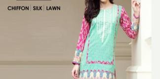 Satrangi Chiffon Silk Lawn Summer Collection 2016