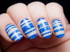 Beautiful Striped Nail Designs For Summer Season