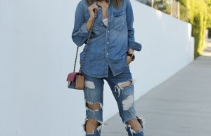Casual Ripped Jeans Women Wear Street Style Fashion